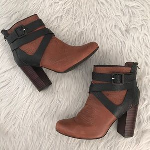 Anthropologie Faryl Robin Leather Ankle Boots